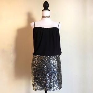 Sleeveless Sequin Flattering Party Dress